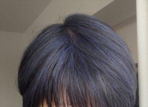 ビューティーン ネイビーブルーで白髪染め 染めたあと