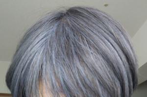 ビューティーン ネイビーブルーで白髪染め 2週間後
