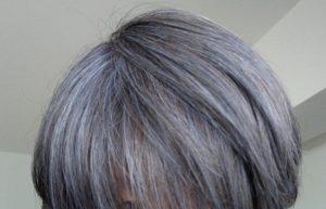 ビューティーン ネイビーブルーで白髪染め 3週間後