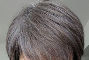 ビューティーン ネイビーブルーで白髪染め 5週間後